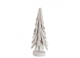 Bílý dřevěný vánoční stromek - Ø 18*51 cm