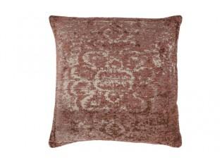 Růžovo -krémový polštář s ornamenty Vintage- 45*45cm