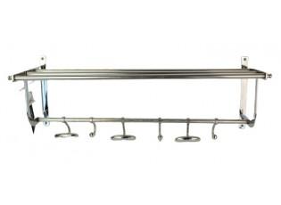 Nástěnný kovový věšák s háčky  - 62*23*21cm