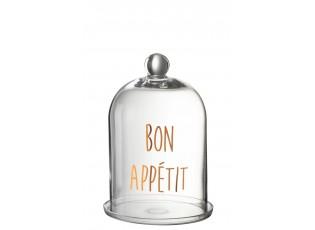 Skleněný podnos s poklopem Bon Apetit - Ø 20*31 cm