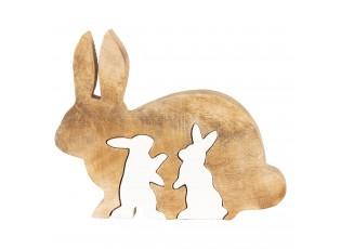Velikonoční dekorace ze dřeva Králíci - 22*18*2 cm