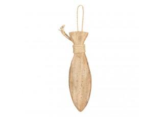 Dřevěná dekorace ryby - 7*3*30 cm