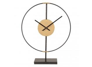 Minimalistické kovové stolní hodiny - 39*9*49 cm/1xAA