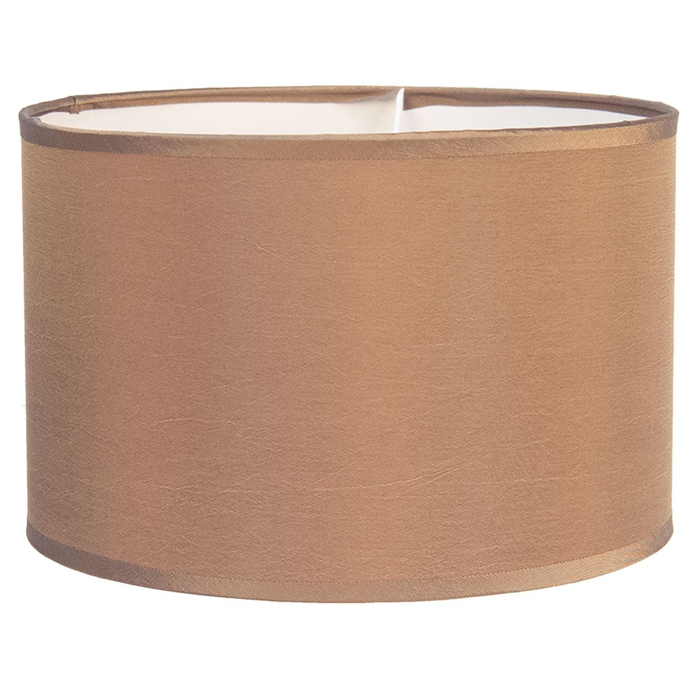 Clayre & Eef Béžové textilní stínidlo na lampu Godard - Ø 37*20 cm