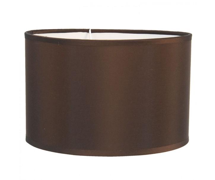 Hnědé textilní stínidlo na lampu Godard - Ø 25*16 cm