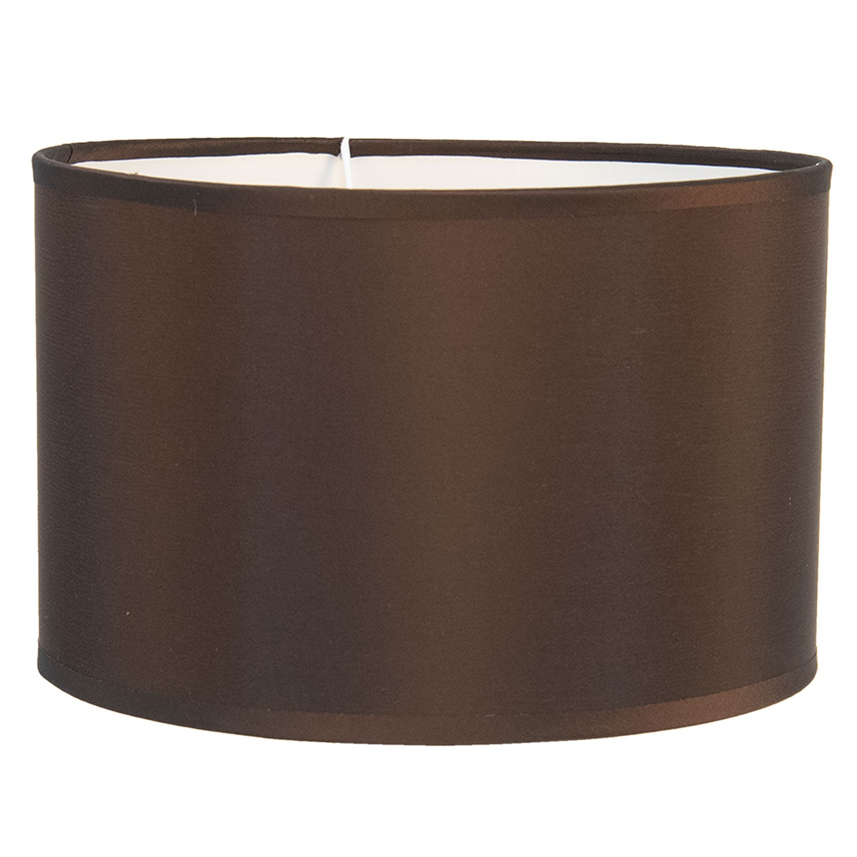 Clayre & Eef Hnědé textilní stínidlo na lampu Godard - Ø 25*16 cm