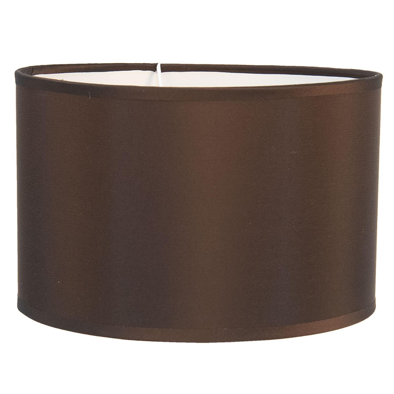 Clayre & Eef Hnědé textilní stínidlo na lampu Godard - Ø 19*12 cm