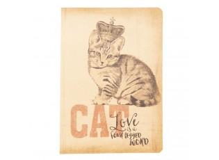 Zápisníček Cat s korunkou - 13*19*1 cm