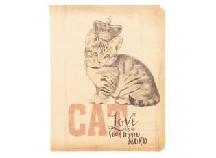 Zápisníček s kočkou a korunkou - 10*13*1 cm