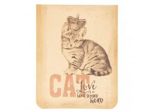 Zápisníček kočka s korunkou - 8*10*1 cm