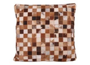 Kožený polštář s výplní Enrico 1 - 60*60 cm