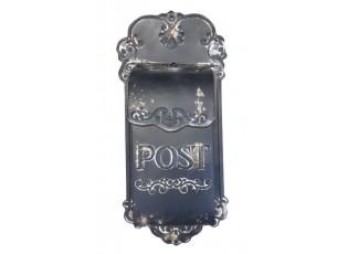 Černá poštovní retro schránka Post - 51*21 cm