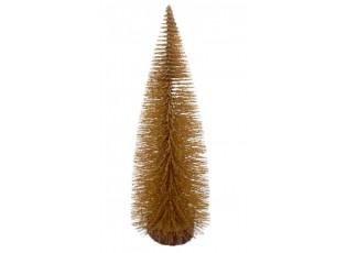 Dekorační zlatý vánoční stromeček - 25 cm