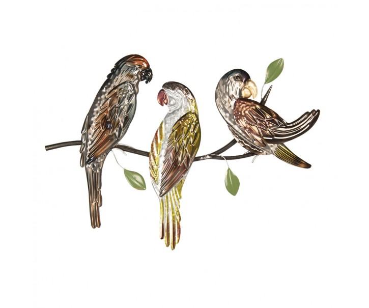 Nástěnné dekorace ptáků na větvi - 65*4*47 cm