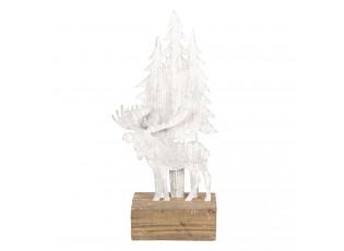 Dekorace Vánoční strom s losy - 13*8*28 cm