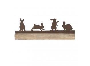 Velikonoční dekorace 4 králíci - 35*5*12 cm