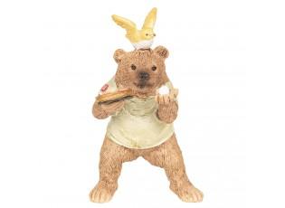 Dekorace Medvěd hrající stolní tenis - 8*7*11 cm