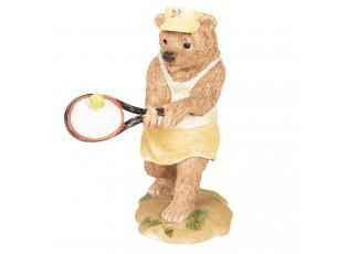 Dekorace Medvěd hrající tenis - 8*7*11 cm