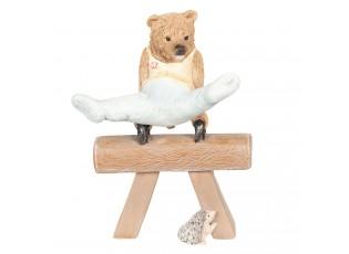 Dekorace Medvěd cvičící gymnastiku - 11*6*14 cm