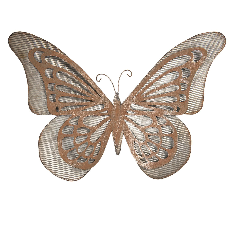 Clayre & Eef Nástěnná dekorace Motýl - 49*7*35 cm