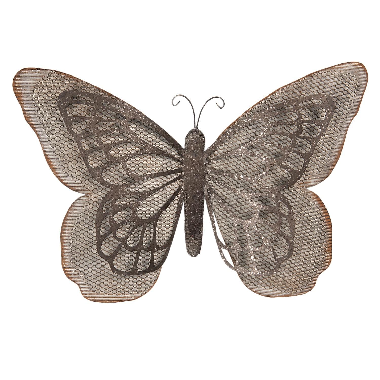 Clayre & Eef Kovová nástěnná dekorace Motýl - 55*8*35 cm