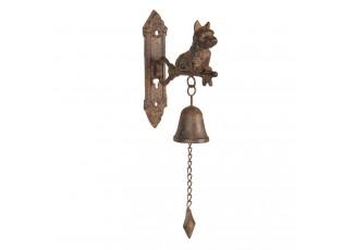 Litinový zvonek se psem s úmyslným rezem - 6*16*38 cm