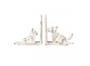 Kovové zarážky na knihy Psi - 15*7*15 cm