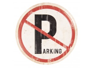 Kovová cedule stop parking - Ø 35 cm