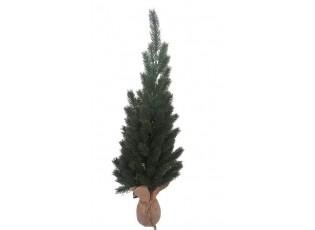 Zelený stromek v jutě - Ø 20*58 cm