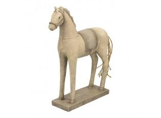 Dekorace koník s patinou - 19*6*26 cm