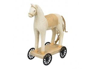 Dekorace koník Lilian na kolečkách - 10*10*14 cm