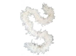 Krémový peříčkový řetěz na stromek - 15*180cm