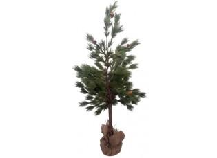 Zelený stromek se šiškami v jutě - Ø 36*90cm