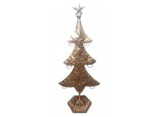 Zlatý kovový stromek s patinou