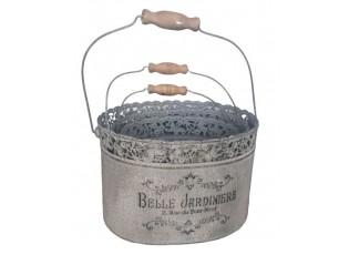 Sada 3ks plechový box s rukojetí Belle Jardiniere - 28*21*18 cm