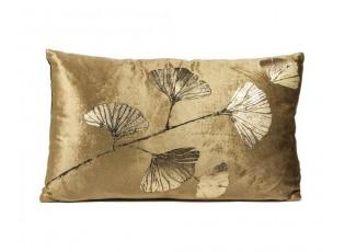 Zlatý sametový polštář Ginkgo gold - 50*30cm