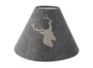 Šedé stínidlo lampy s jelenem - Ø 28*18 cm
