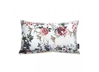 Zelený sametový polštář s květy Luisa teal - 30*50cm