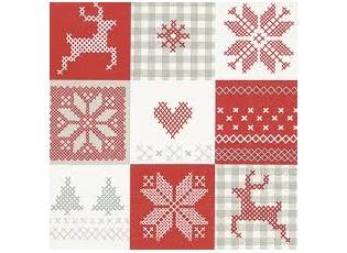 Vánoční papírové ubrousky  Winter patch - 33*33 cm (20)