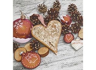 Vánoční papírové ubrousky  Natural style - 33*33 cm (20)