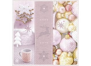 Vánoční papírové ubrousky  Lovely Xmas - 33*33 cm (20)