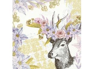 Vánoční papírové ubrousky  Dreamy deer - 33*33 cm (20)