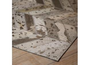 Koberec Enrico z kožených dílků design 10 - 170*240 cm