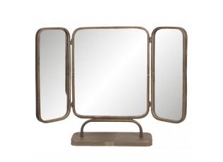 Stolní třídílné zrcadlo s kovovým rámem - 66*14*50 cm
