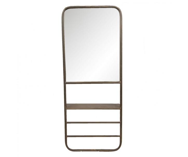 Zrcadlo s policí a věšákem Tempeste - 40*14*100 cm