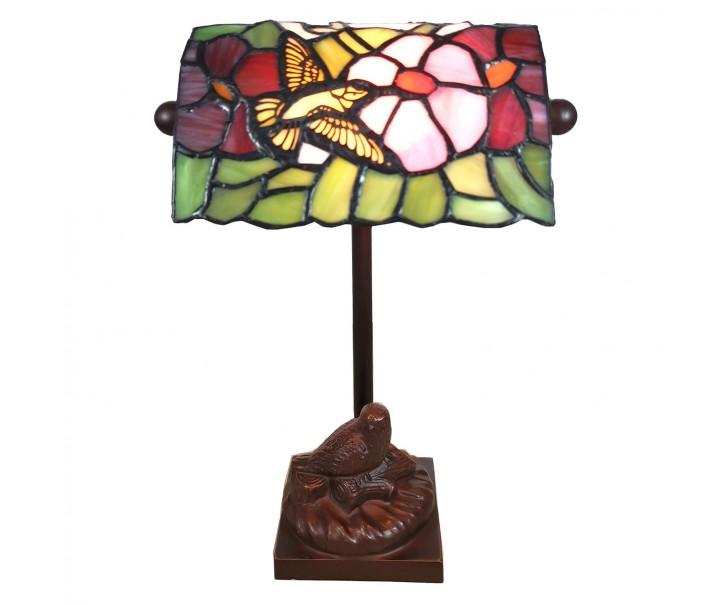 Stolní lampa Tiffany Oiseau - 15*15*33 cm