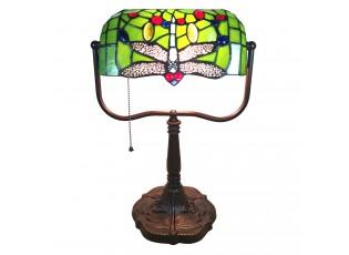 Stolní Tiffany lampa Libellule - 25*25*42 cm E27/max 1*60W