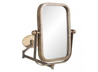 Otočné vintage zrcadlo v bronzovém rámu s upevněním na zeď - 34*2*35 cm