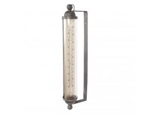 Venkovní vintage teploměr - 15*8*57 cm