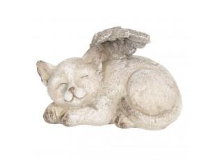 Dekorace ležící kočka s křídly - 15*10*10 cm